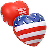 American Flag Heart Stress Balls